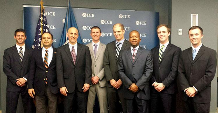 From left to right: Arne Newman, Asad Gilani (Program Manager Energy), Tom Sgroi (Senior Sustainability Officer), Blake Hamilton, David Frankel, Quenton Brown (Chief of Staff), Dennis Cotter, & Daniel Perkins.