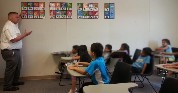 School about to start for children at the Artesia Family Residential Center