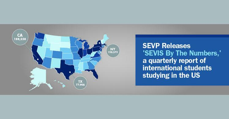 SEVP releases quarterly report on international students studying in US