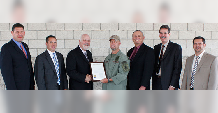HSI special agents honored by the city of South San Francisco
