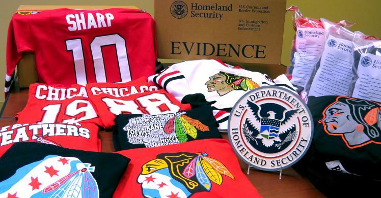The enforcement initiative, dubbed Operation Team Player, resulted in the seizure of 4,376 items, including fake jerseys, hats, t-shirts, jackets and other souvenirs. The $181,215 value is based on the manufacturer's suggested retail price of the counterfeit NHL merchandise.