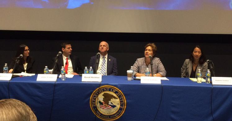ICE Director Saldaña discuss combating cyber crime with DOJ Assistant Attorney General for National Security