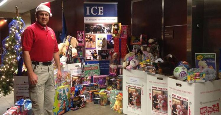 ICE Academy / FLETC bring holiday cheer to local children in need