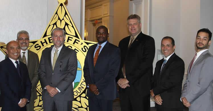 The ICE leadership team meeting with the Florida Sheriff's Association were (from left to right) Assistant Field Office Directors Conrad Agagan, Sean Stephens, Garrett Ripa, Cardell Smith, acting Field OfficeDirector Mike Meade, Deputy Field Office Director Jim Martin and Office of Principal Legal Advisor OPLA Orlando Chief Counsel Ian Fiske.