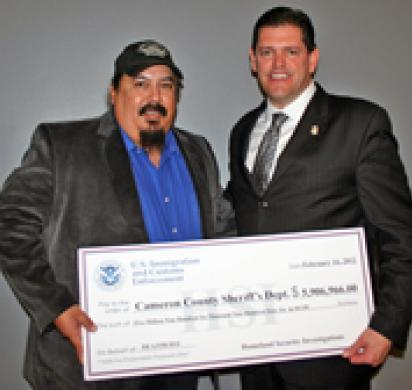 ICE shares bulk of $29.5 million in forfeited drug money with 12 south Texas law enforcement partners