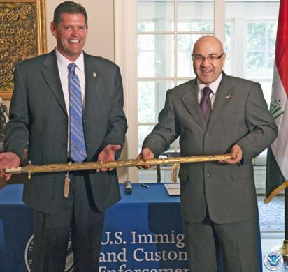ICE returns Saddam Hussein ceremonial sword to Republic of Iraq