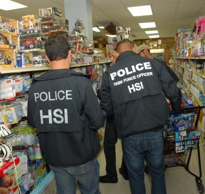 HSI San Juan special agents identify counterfeit toys from China that are contaminated with lead paint at a local pharmacy.