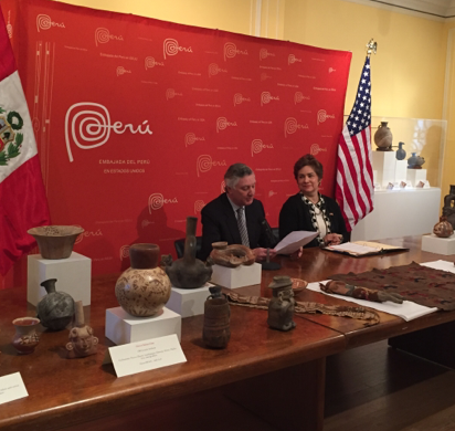 ICE returns cultural artifacts to Peru