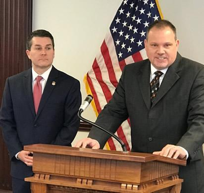 U.S. Attorney for the District of Northern Oklahoma Trent Shores and ASAC James M. Wright of HSI Dallas.