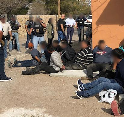 ICE arrests suspected human smuggler, 54 illegal aliens in El Paso smuggling stash house