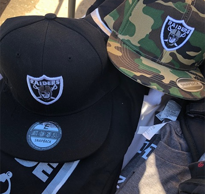 ICE HSI San Francisco confiscates nearly $11K in fake merchandise at Raider-Alameda County Coliseum