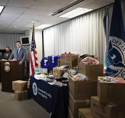 HSI New Orleans Special Agent in Charge Jere Miles announces the results of an IPR surge operation resulting in the seizure of more than 33,000 counterfeit items valued at more than $8 million.