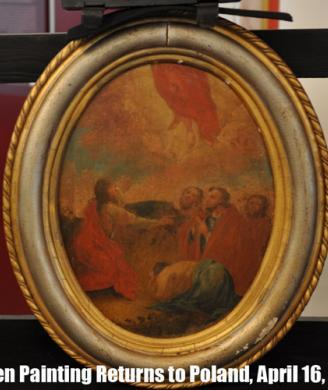 Homeland Security Investigations returns looted painting to Poland