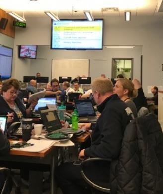 ICE personnel and a wide range of local, state and federal law enforcement monitored every aspect of the event from the Command Center.