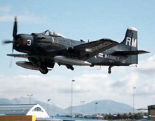 AD-4N Skyraider aircraft