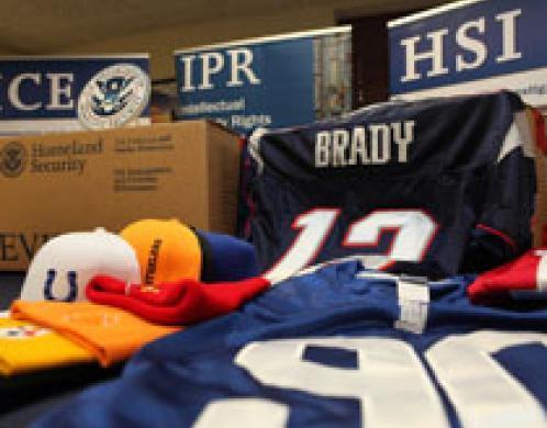 ICE siezes counterfeit Super Bowl items