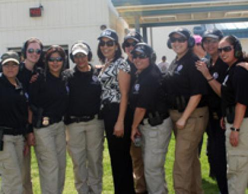 Female law enforcement officers hone skills at San Diego training