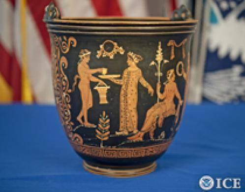 Italian Repatriation - Apulian Red-Figured Situla