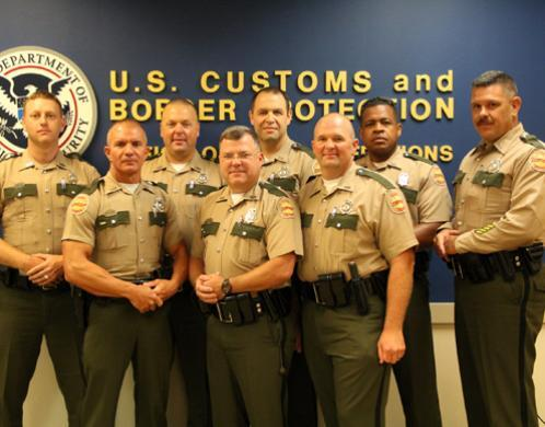 THP Troopers from across the State of Tennessee at the Hidalgo POE for a week of training