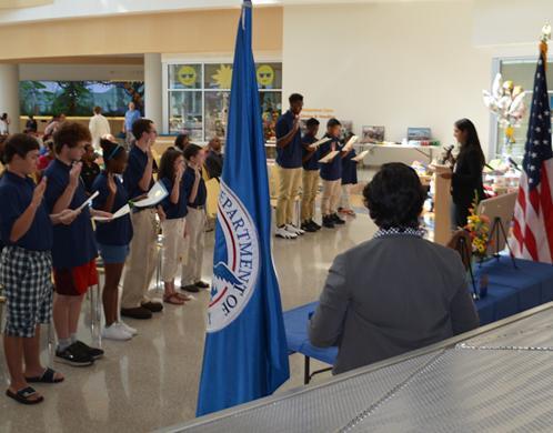 ICE HSI Philadelphia hosts youth cadet program graduation