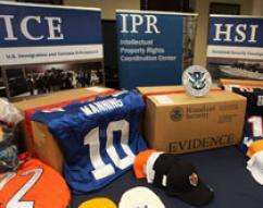 ICE siezes counterfeit Super Bowl items