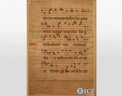 Italian Repatriation - Illuminated Choir Book manuscript