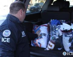 Federal agencies seize more than $21.6 million in fake NFL merchandise during 'Operation Team Player'.