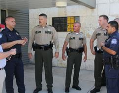 THP Troopers,  CBP Officers, and HSI Special Agents discuss current trends at the Hidalgo Port of Entry
