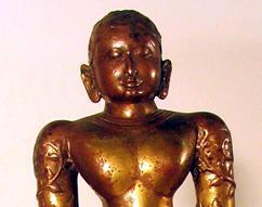 Jain Figure of Bahubali South India, probably Karnataka  14th century Brass
