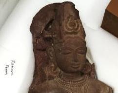 Male Diety India, Madhya Pradesh Khajuraho, 12th century Red sandstone