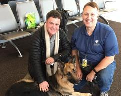 ERO officer Thomas Szwed gives his time to Paws for Love