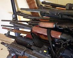 During this operation, HSI and its partner law enforcement agencies seized 238 firearms