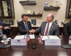 ICE Acting Director Thomas Homan and DSI Director General Paisit Wongmuang