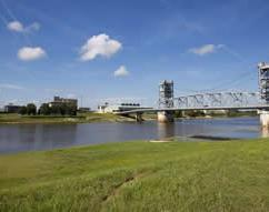 View of the Gillis Long Bridge that connects Alexandria and Pineville, Louisiana
