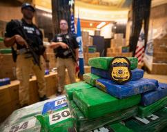 ICE HSI Philadelphia participates in joint press conference announcing the seizure of over 17 tons of cocaine