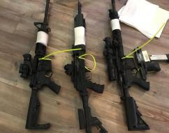 Weapons confiscated in rural Snohomish County on March 10, as part of the investigation and subsequent arrest of Kenneth Warren Rhule.