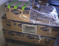 ICE HSI Nogales incauta cientos de botellas de productos de limpieza diluidos