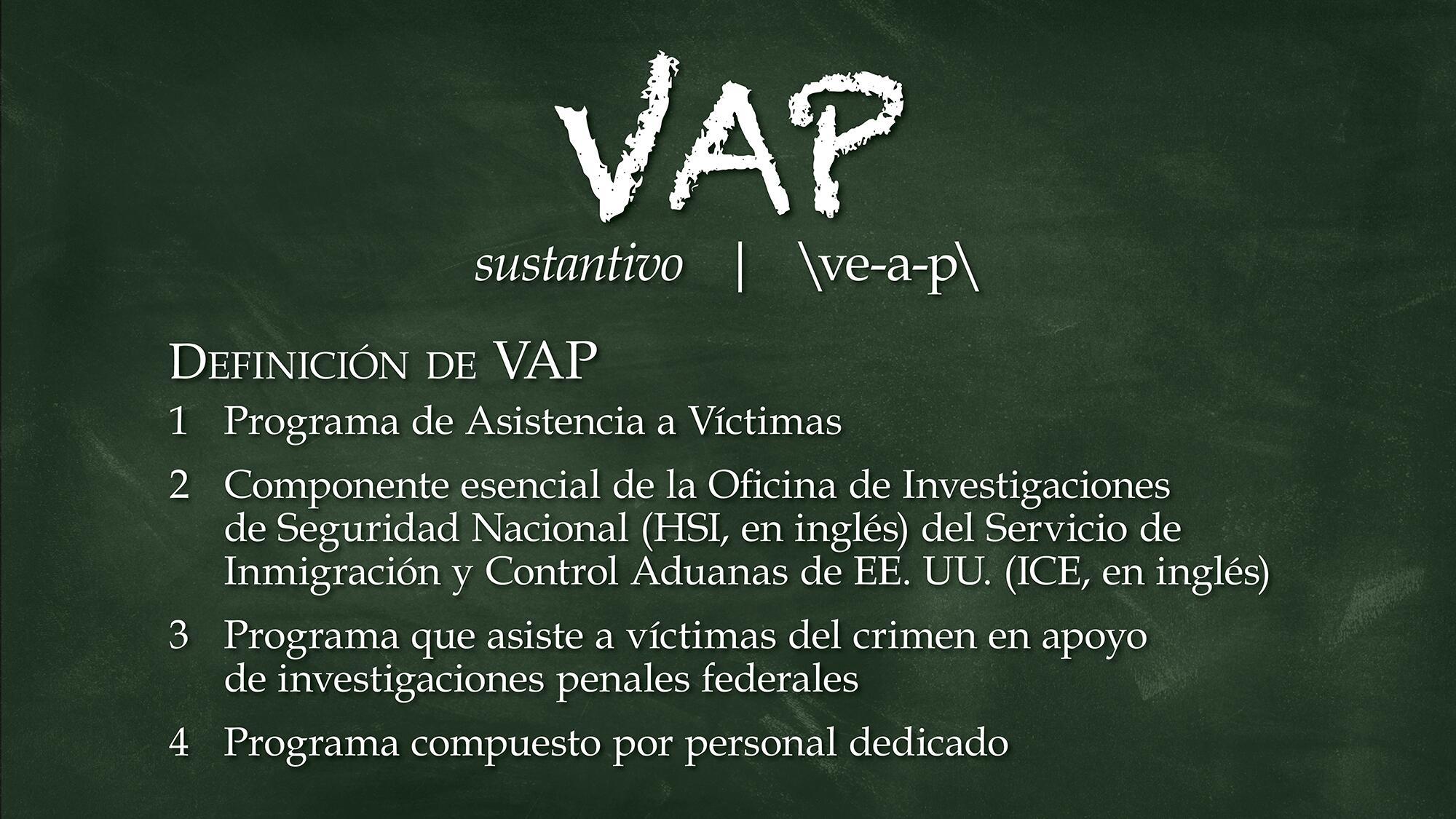 Programa Asistencia Victimas (VAP)